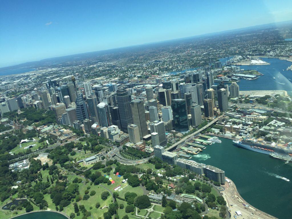 View of the Sydney CBD