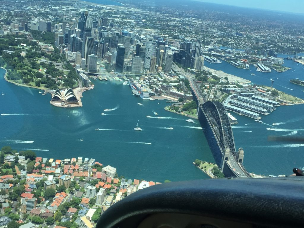 Approaching the Sydney Harbour Bridge from Manly